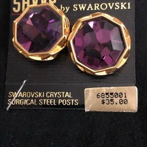 Jewelry - Swarovski crystal pierced earrings